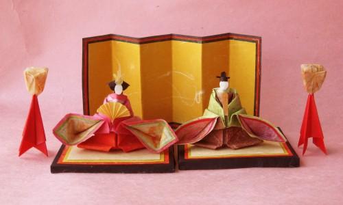 当ブログでじわじわ作り続けて ... : 折り紙お雛様折り方立体 : 折り方